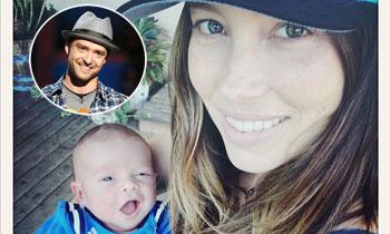 Justin Timberlake presenta a su hijo, Silas, en la red