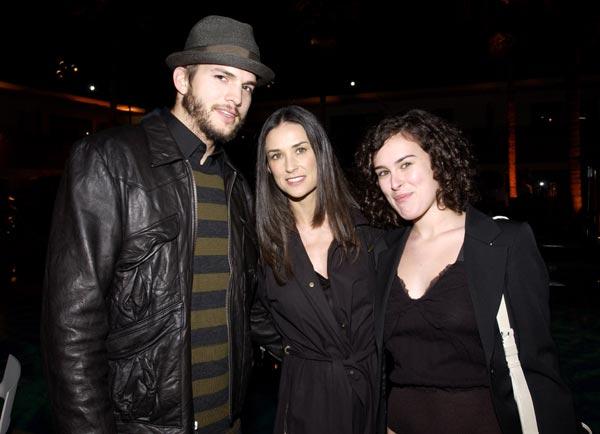 Rumer Willis y su 'enamoramiento adolescente' por Ashton Kutcher, entonces novio de su madre Demi Moore: 'Tenía su póster'