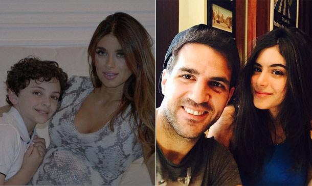 Cesc Fábregas y Daniella Semaan, cuenta atrás en familia