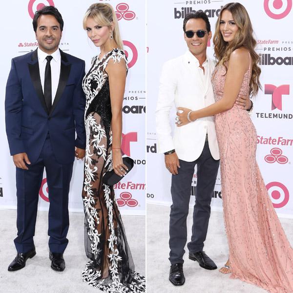 Marc Anthony lleva el amor, Jennifer López el 'glamour' y Enrique Iglesias el toque español a los Premios Billboard