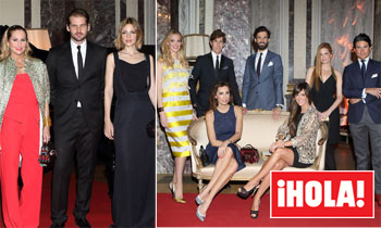 Tomaso y Gaia Trussardi, herederos de un imperio de la moda, anfitriones de una cena 'made in Italy' en Madrid