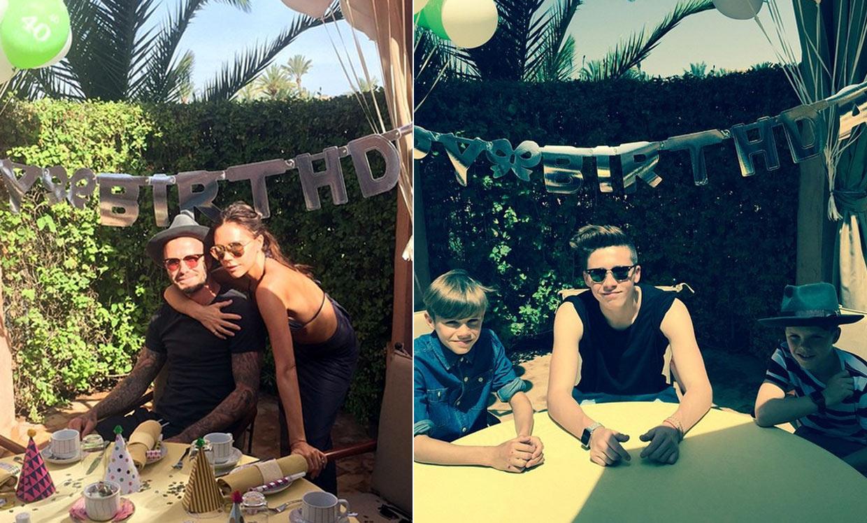 David beckham celebra sus 40 a os en marrakech con su - Ideas para fiesta 40 cumpleanos ...