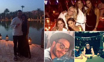 David Beckham sopla sus 40 velas por todo lo alto en Marrakech con su familia y una reunión de Spice Girls
