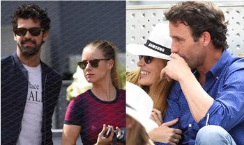 Álvaro Muñoz Escassi con nueva acompañante, Valeria Mazza y su marido, Miguel Ángel Muñoz y Manuela Vellés disfrutan del mejor tenis