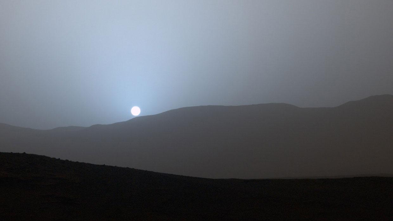 Así se ve una puesta de Sol en Marte