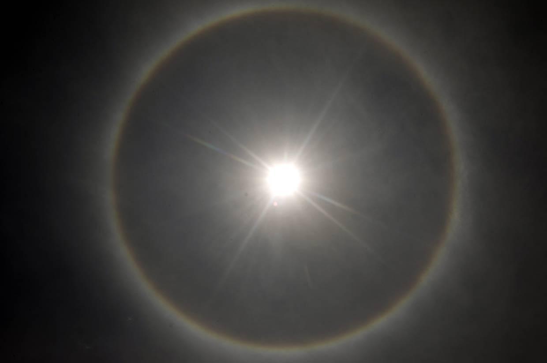 Un espectacular halo solar sorprende en México