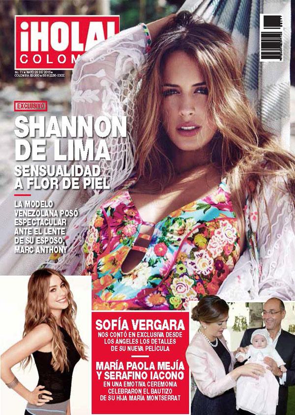 Marc Anthony, orgulloso de su 'musa', Shannon de Lima, a la que ha fotografiado en exclusiva para ¡HOLA! Colombia
