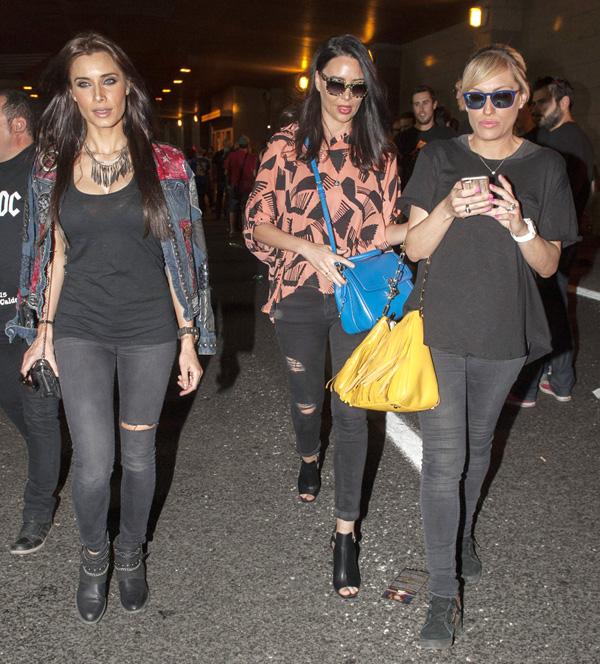 Pilar Rubio 'cambia' a Sergio Ramos por un concierto de rock con amigas