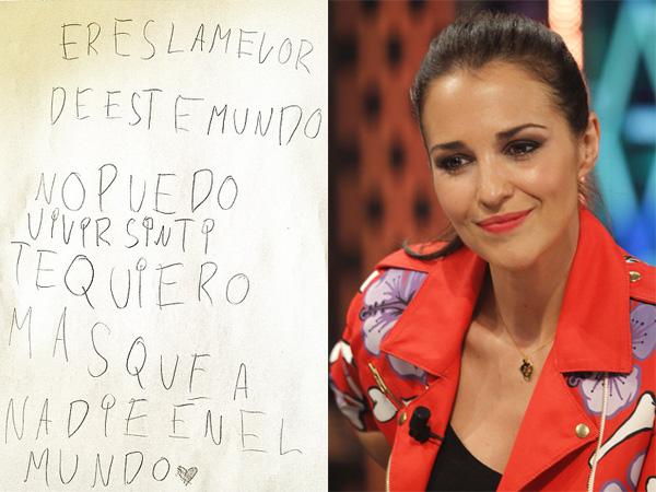 Paula Echevarría se derrite con la declaración de amor de su hija: 'No puedo vivir sin ti, te quiero'