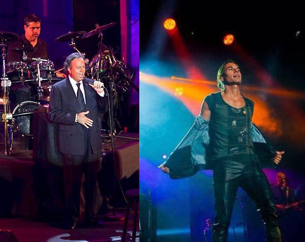 Julio Iglesias y su hijo Julio Iglesias Jr., juntos de gira por Europa