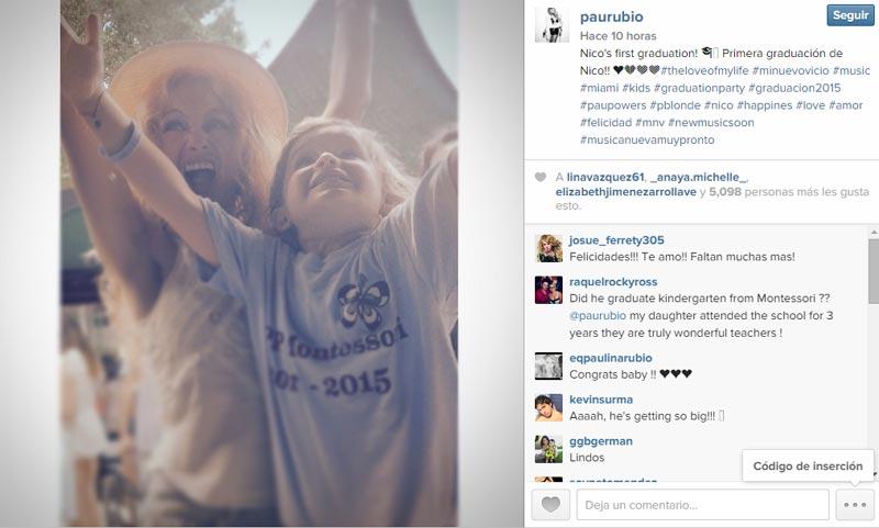 Paulina Rubio, una madre orgullosa de su pequeño Nico