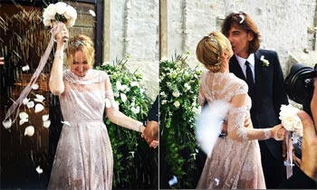 La diseñadora Frida Giannini, ex directora de Gucci, se casa vestida de Valentino