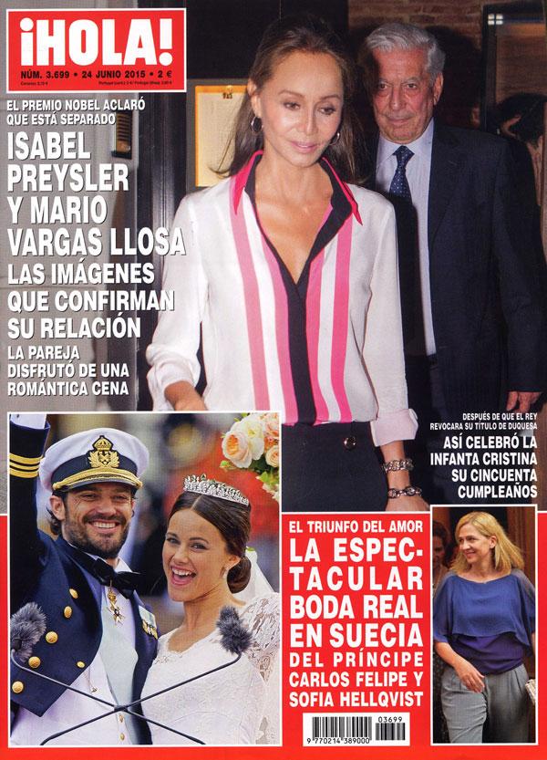 ¡HOLA! adelanta su salida: Isabel Preysler y Mario Vargas Llosa, las imágenes que confirman su relación