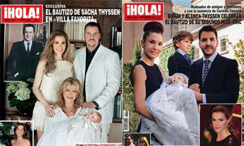 Después de perderse los bautizos de Eric y Enzo, la baronesa Thyssen estará junto a su nieta Kala