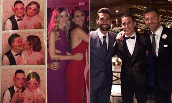 Xabi Alonso y Nagore Aranburu, Álvaro Arbeloa y Carlota Ruíz, Roberto Soldado y Rocío Millán... 'repartidos' entre dos bodas futbolísticas
