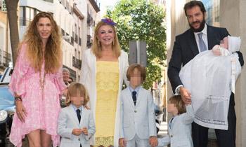Los Thyssen, una familia unida y feliz en el bautizo de la pequeña Kala