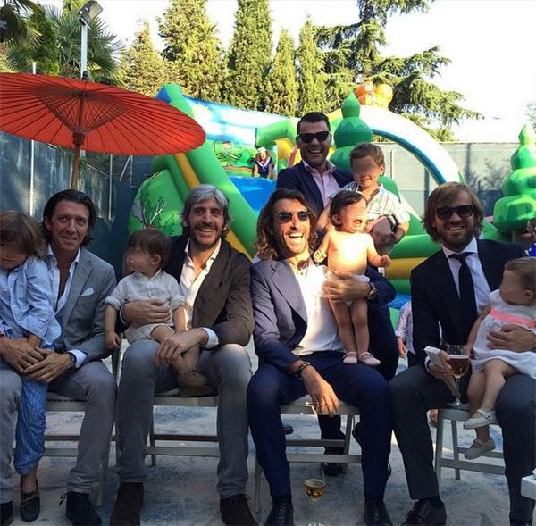 Alfonso de Borbón, Rosauro Varo, Fonsi Nieto, Nicolás Vallejo-Nágera y Javier Hidalgo grandes amigos y mejores papás