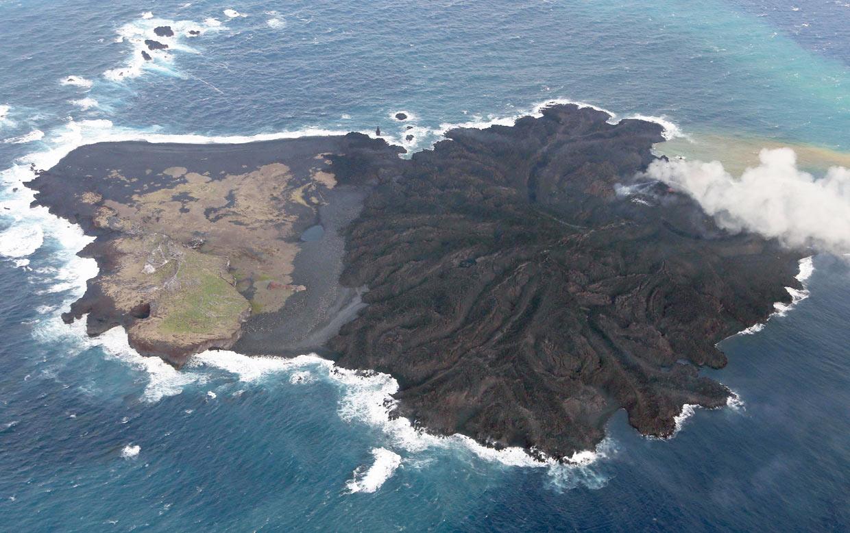 Esta isla… ¡no para de crecer!