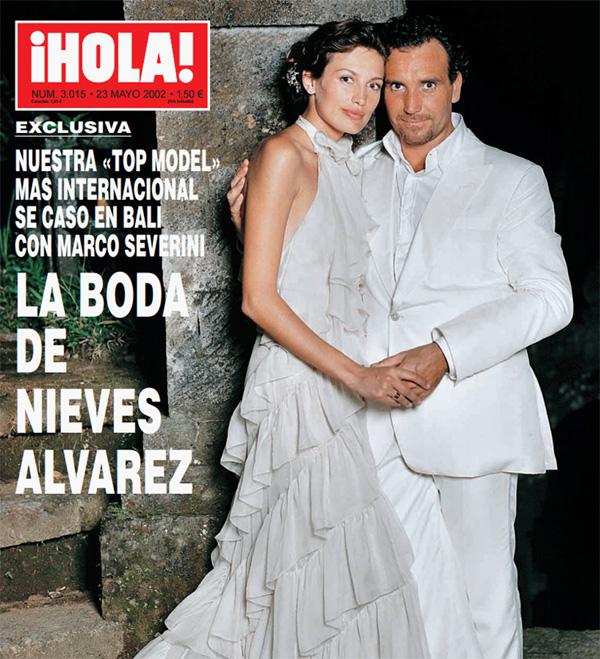 Así te contamos en ¡HOLA! la exótica boda de Nieves Álvarez y Marco Severini