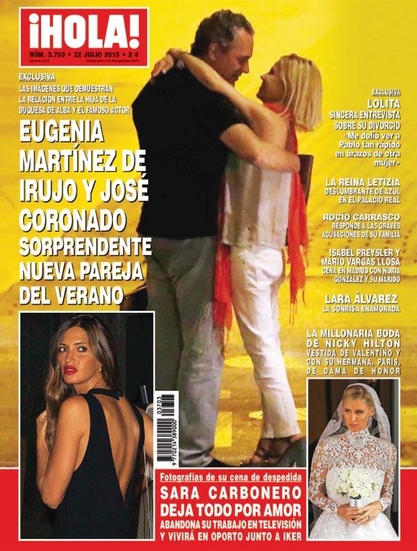 Besos en la calle, paseos en moto, cenas con caricias… Así han sido las últimas semanas para Eugenia Martínez de Irujo y José Coronado