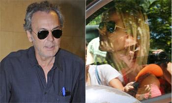 José Coronado se marcha a París, no sin antes despedirse de Eugenia