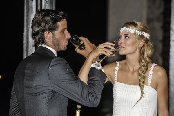 Mensajes de agradecimiento, comida rápida... ¿cómo han pasado Alba Carrillo y Feliciano López su primer día como marido y mujer?