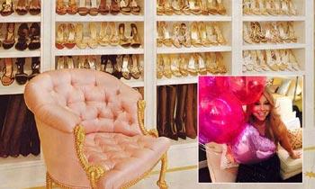 Tiene el tamaño de un apartamento y cuenta con cientos y cientos de zapatos: así es el vestidor de Mariah Carey