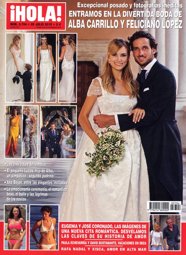 En ¡HOLA!: Entramos en la divertida boda de Alba Carrillo y Feliciano López
