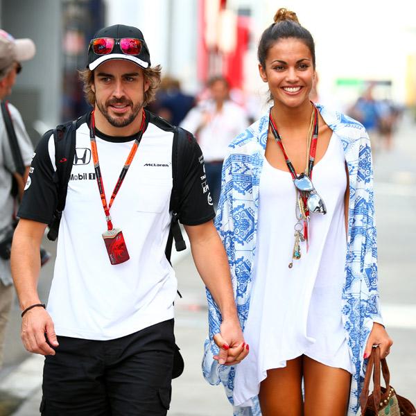 Fernando Alonso y Lara Álvarez, risas y romance en el Gran Premio de Hungría