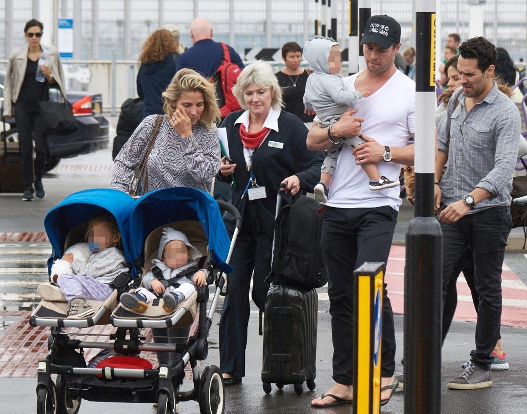 Resultado de imagen para chris hemsworth y elsa pataky y sus hijos