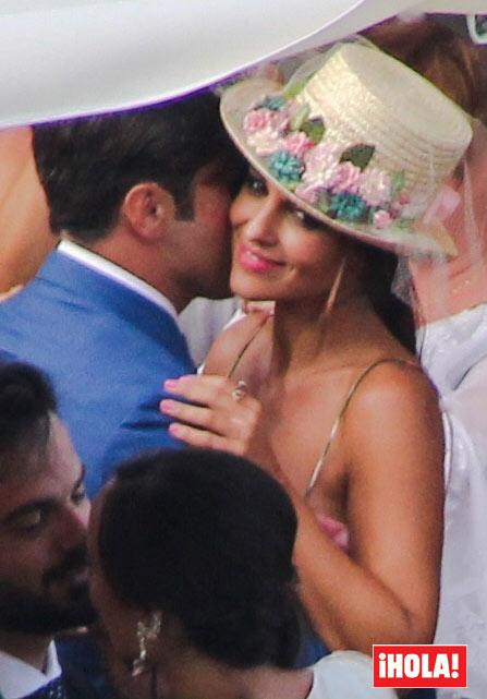 Paula Echevarría y David Bustamante, invitados de lujo en la boda del hermano del cantante