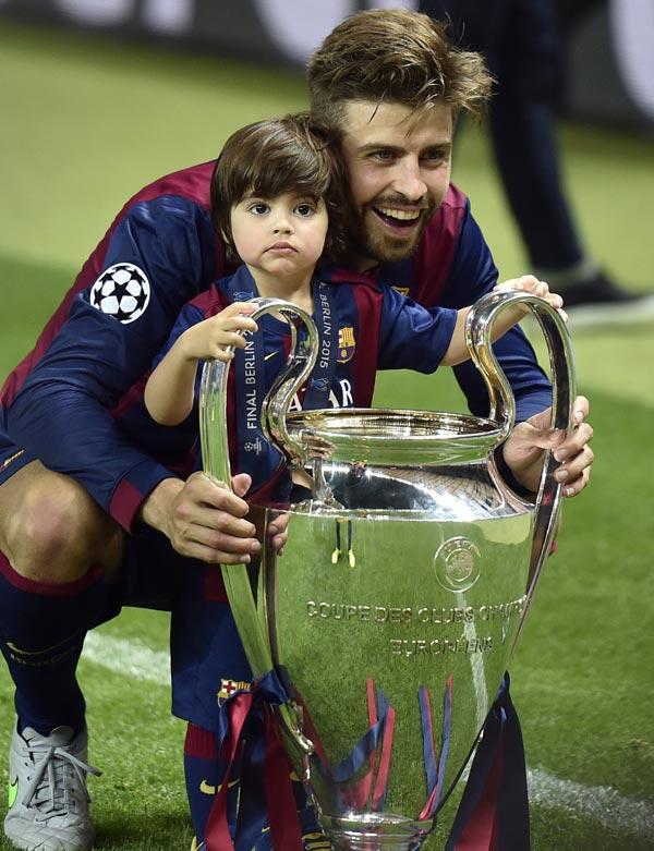 Milan Piqué demuestra que es todo un campeón como papá
