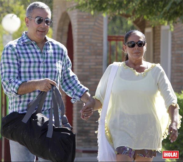 Isabel Pantoja recibe la visita de su nieto Francisco en hospital