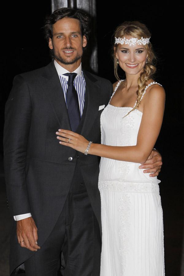 Alba Carrillo y Feliciano López, dedicatorias de amor a pie de pista un mes después de su boda