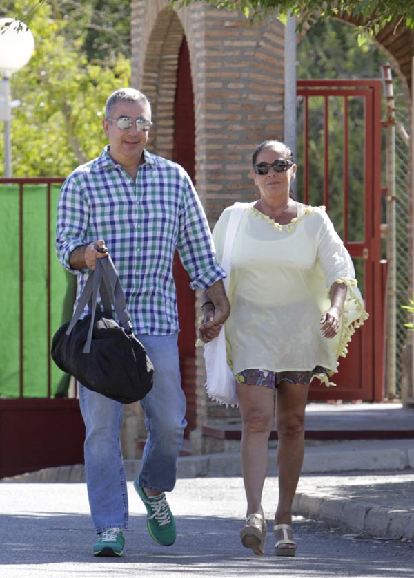 Isabel Pantoja recibió la visita de su hija y su nieto Alberto antes de su regreso a prisión