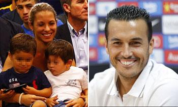 Su hijo Bryan y Thiago Messi, protagonistas en el 'adiós' al Barça de Pedro Rodríguez