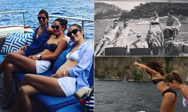 Carlota Ruiz, Nagore Aranburu y Marta Ponsati, tres WAG´s de vacaciones con sus maridos... ¡y un bebé a bordo!