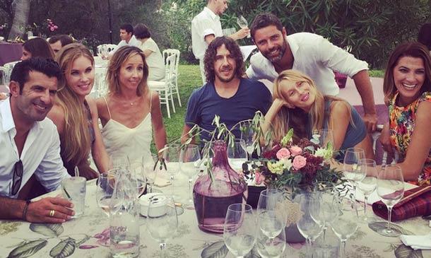 Nieves Álvarez, Vanesa Lorenzo y Laura Sánchez en la boda de...