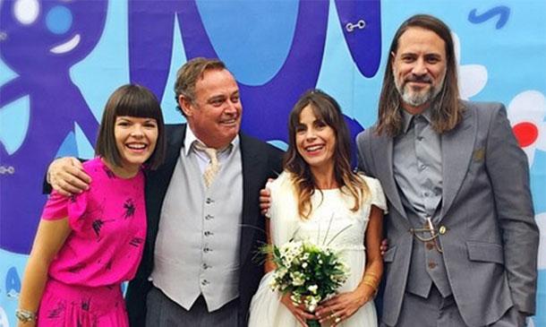 El festivo 'sí, quiero' de Pablo Carbonell y María, la madre de su hija Mafalda