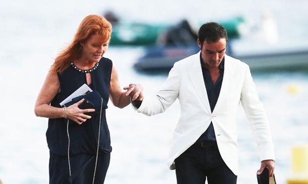 El acompañante español de Sarah Ferguson, todo un caballero con ella en la boda de Bob Geldof