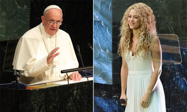 Shakira 'comparte escenario' con... ¡el Papa Francisco!