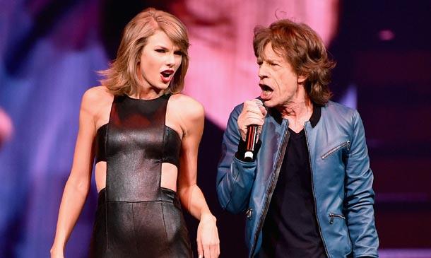 Electrizante y arrolladora, Taylor Swift se sube al escenario con el legendario Mick Jagger