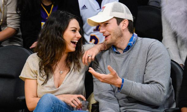 Ashton Kutcher y Mila Kunis, un año redondo como padres