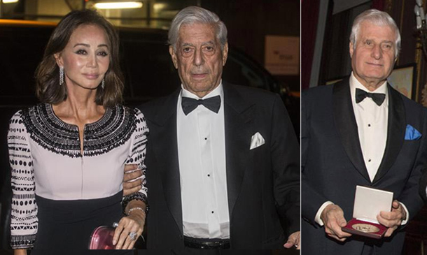 El Duque de Alba y Mario Vargas Llosa, acompañado por Isabel Preysler, reciben un homenaje en Nueva York