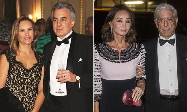 En ¡HOLA!: Isabel Preysler, Mario Vargas Llosa y su hijo Álvaro, juntos en la gran fiesta de la Hispanic Society of America