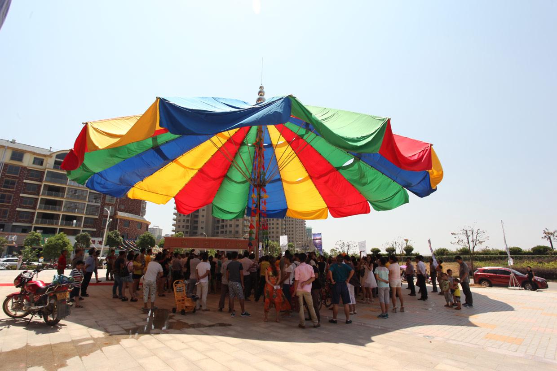 Así es el paraguas más grande del mundo