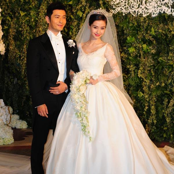 todos los detalles de la lujosa boda de angelababy, la gran estrella
