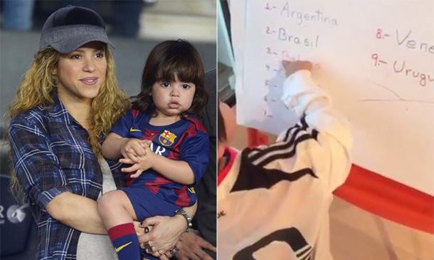 Tiene solo dos años y ya sabe leer... ¡Shakira, la mejor 'profe' de Milan!