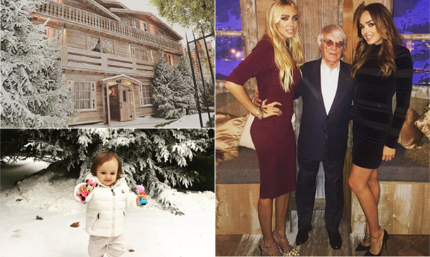 Tamara Ecclestone transforma su mansión londinense en un chalet alpino para el cumpleaños de su padre