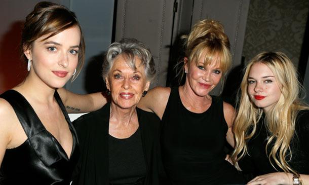Melanie Griffith, su madre y sus hijas: tres generaciones de talento y puro 'glamour'